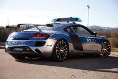 Autobahn police cars.