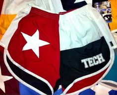 Texas Tech TX flag shorts  #wreckemtech