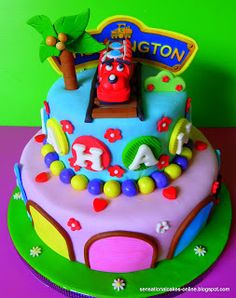 CHUGGINGTON TRAIN EDIBLE CAKE TOPPER DECORATION CHUGGINGTON
