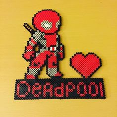 Deadpool perler beads by mariarumb