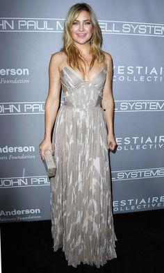 Kate Hudson in a gray J. Mendel dress