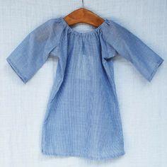 Pinstripe Cotton Dress - milk and honey baby