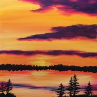 Paintings – 2 Hour on Creatively Uncorked Easy Canvas Painting, Acrylic Painting For Beginners, Beginner Painting, Painting & Drawing, Canvas Art, Canvas Ideas, Landscape Art, Landscape Paintings, Couple In Rain