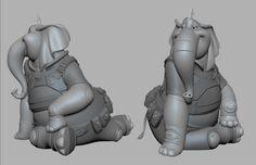 -- Share via Artstation iOS App, Artstation © 2017 Character Modeling, 3d Character, Character Design, 3d Modeling, Character Reference, 2d Design, Game Design, D D Races, Cartoon Elephant