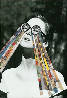 collage #collage . by ben///giles, via Flickr I like the idea of her tears being collages to make it a humourous art work.
