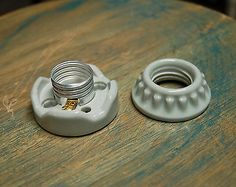 Flush-Mount-Lamp-Holder-Two-Piece-Porcelain-Sign-Socket-Vintage-Marquee-Lights