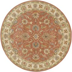 Surya CAE1124 Caesar Orange Round Area Rug