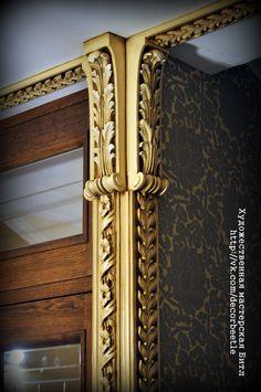 Роспись лепного декора. Художественная мастерская Битл. Санкт-Петербург.