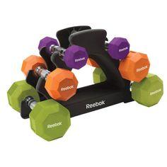 Image result for dumbbell rack purple 6 dumbbells