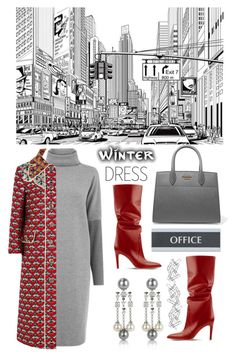 """""""Dress for the winter"""" by na-pan on Polyvore featuring Mode, Warehouse, AZ Collection, Gucci, Prada, U.S. Stamp & Sign, Home Decorators Collection und dressunder100"""