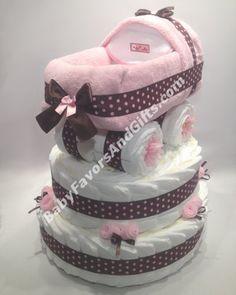 Baby Carriage Diaper Cake Base, BabyFavorsAndGifts.com