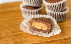 Homemade Reeses Peanut Butter Cups... I'm in so much trouble now that I know how to make these.