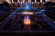 Fireworks mark the opening of the 2014 Commonwealth Games at Celtic Park.