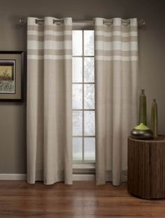 Steeamline window curtain - would go with almost any decor!