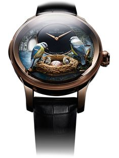 Bird Repeater watch by Jaquet Droz