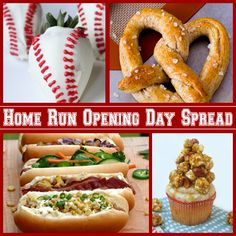 Home Run Opening Day Spread - 4 Fabulous Recipes for #baseball #openingday.