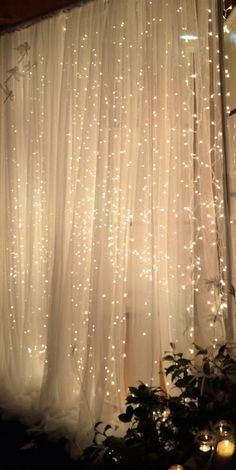 Booth / Backdrop with String Lights Ideas – j i s s y j e s s y . c o mPhoto Booth / Backdrop with String Lights Ideas – j i s s y j e s s y . c o m Grey Tulle Wedding Backdrop For Reception Romantic Full Gray Change purple to maroon and grey x Wedding Reception, Our Wedding, Dream Wedding, Tulle Wedding, Light Wedding, Wedding Scene, Fairy Lights Wedding, Backdrop Wedding, Wedding Church