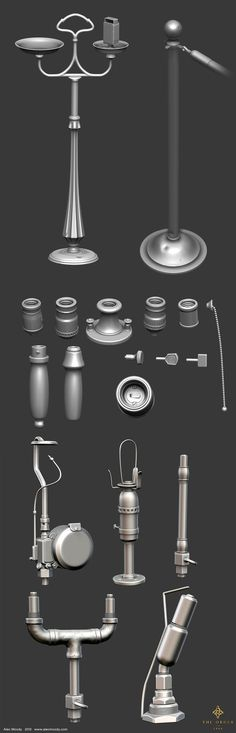 Props for The Order 1886, Alec Moody on ArtStation at https://www.artstation.com/artwork/props-for-the-order-1886