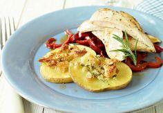 Kyllingfilet med parmesan og rosmarin   Tara.no