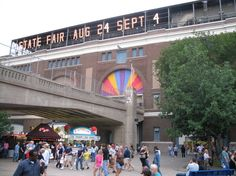Minnesota State Fair......one of the happiest places on earth :)  Nothing beats the dairy building malts or the french fries. Yummy!!