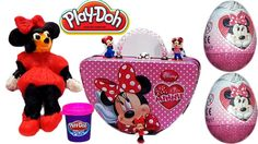Play Doh Minnie Mouse Clubhouse Disney Character 3D!!! Surprise Minnie M...