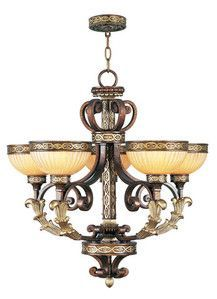 Livex Lighting 8545-64 Seville Chandelier in Palacial Bronze with Gilded Accents