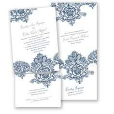 Persian Lace - Marine - Value Invitation Set