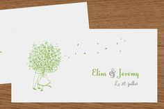 étiquette de mariage bouquet by Marion Bizet pour www.rosemood.fr #mariage #wedding #étiquette