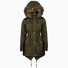 THE ORANGE TAGS NEW WOMENS OVERSIZED HOOD LADIES PARKA JACKET ...
