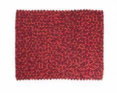 Taille personnalisée tapis de laine rouge