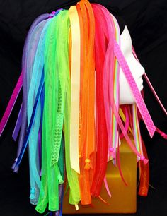 Cyber falls - Neon Nights - Rainbow Cyberlox - Blacklight Responsive