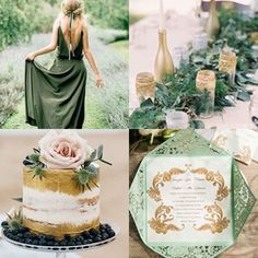 Heater green wedding inspiration