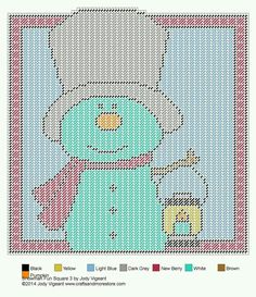 SNOWMAN FUN SQUARE 3 by JODY VIGEANT -- WALL DECOR 2/2