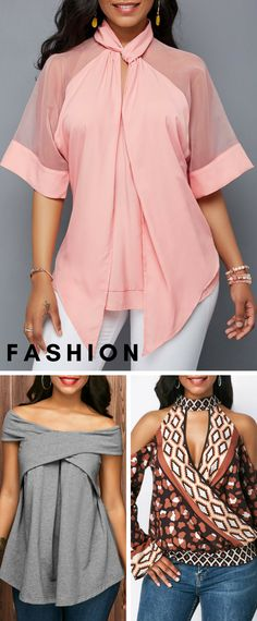Fashion blouse with a strong sense of design,you will love it.Huge selection with new styles added every day. Fashion Details, Look Fashion, Fashion Outfits, Womens Fashion, Blouse Styles, Blouse Designs, Beautiful Outfits, Cool Outfits, Moda Xl