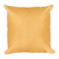 Square Pillow – Orange Pattern Throw Pillow This soft pillow is an excellent addition that gives character to any space. It comes with a soft polyester insert that will retain its shape after many uses, and the pillow case can be easily machine washed. Orange Pattern, Soft Pillows, Designer Throw Pillows, Classic Beauty, Prints, Printed, Art Print