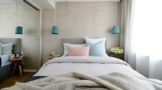 pastel tones (via The Block room reveals: Dea & Darren's bedroom / Insideout )