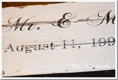 wedding date sign.