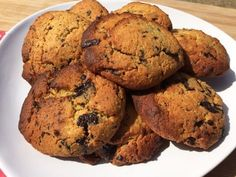 Fluffy GI biscuits, almonds and chocolate Biscuit Cookies, Cake Cookies, My Favorite Food, Favorite Recipes, Healthy Cookies, Chocolate Chip Cookies, Experience, Sweet Treats, Brunch