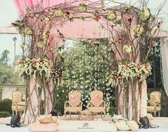 Don't go crazy looking at mandap designs all over the place. Stop, take a look at our Top 5 Mandap Design Ideas & get your Pitcure Perfect Wedding right! Wedding Mandap, Sikh Wedding, Wedding Stage, Rustic Wedding, Wedding Ceremony, Wedding Arches, Boho Wedding, Wedding Dresses, Wedding Flower Decorations