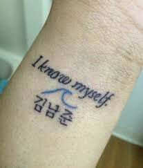 Resultado de imagen para tatuajes de first love bts