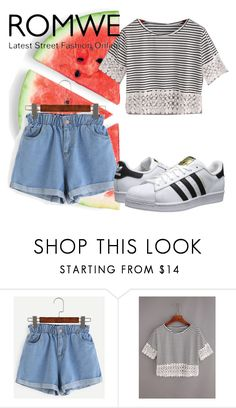 """""""Untitled #56"""" by lovee-green ❤ liked on Polyvore featuring WithChic and adidas Originals"""