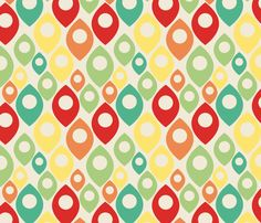 retro pattern fabric by susieswe on Spoonflower - custom fabric