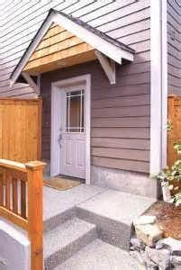 How to Build a Wood Awning Over a Door & roof over front door entrance | Bungalow Restoration: Side door ... Pezcame.Com