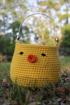 DIY Crochet Easter Basket - Free Pattern