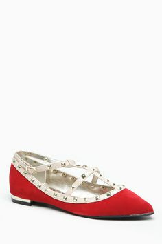 Dollhouse Pointed Toe Studded Caged Flat @ Cicihot Flats Shoes online store:Women's Casual Flats,Sexy Flats,Black Flats,White Flats,Women's ...