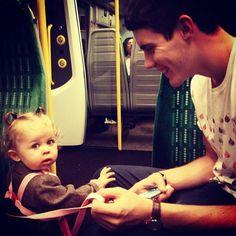 Alfie Deyes and little Baby Glitter (Darcy) awwweee!