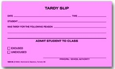 We Specialize In Late Pass School Forms And Graduation Booklet Printing US