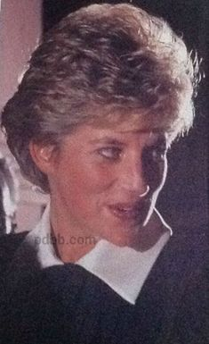 "14 December 1992 Princess Diana, in her capacity as Patron, attends 'A Night Before Christmas"" production by ChickenShed Theatre at the London Palace Theatre."
