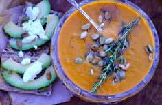 Hearty and creamy carrotsoup w.lenses