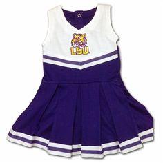 LSU Infant Cotton Cheerleader Dress #LSU #Infant #Baby #Toddler #Babyfans